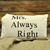 Geko Products Sofakissen Mrs. Always Right