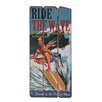 Besp-Oak Furniture Wooden Ride the Wave Graphic Art Plaque