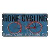 Besp-Oak Furniture Wooden Gone Cycling Wall Décor