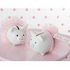 Baby Aspen Tutu Cute Ceramic Mini-Piggy Bank (Set of 20)