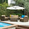 The-Hom Cane Garden 5 Deep Piece Seating Group with Cushions