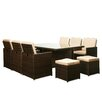 The-Hom Scorpio 11 Piece Dining Set with Cushions