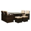 The-Hom Shalimar 9 Piece Patio Set with Cushions