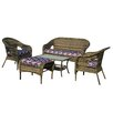 Thy-Hom St. James 5 Piece Seating Group with Cushion