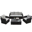 The-Hom Rio 4 Piece Deep Seating Group with Cushions