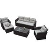 The-Hom Rio 5 Piece Deep Seating Group with Cushions