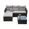 The-Hom Rio 3 Piece Deep Seating Group with Cushions