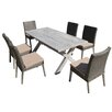 Thy-Hom Lindmere 7 Piece Dining Set with Cushion