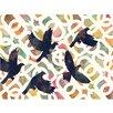 Cozamia Black Doves Graphic Art