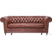 KARE Design 3-Sitzer Chesterfield Sofa Deluxe Oxford aus Leder