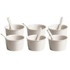 Seletti Estetico Quotidiano Ice Cream Bowl with Spoon (Set of 6)
