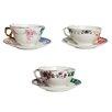 Seletti Hybrid Porcelain Teacup and Saucer Set