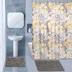 Popular Bath English Rose 15 Piece Chenille Shower Curtain Set