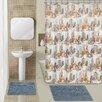 Popular Bath City 15 Piece Chenille Shower Curtain Set