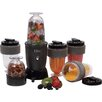 Elite by Maxi-Matic Cuisine 17 Piece Personal Drink Blender Set with Travel Cup