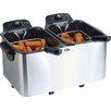Elite by Maxi-Matic Platinum 2.83 Liter Stainless Steel Dual Deep Fryer