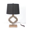 "Teton Home 25.25"" H Table Lamp with Empire Shade (Set of 4)"
