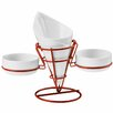 Premier Housewares 19cm Porcelain French Fry Cone and Stand