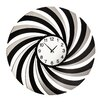 All Home Oversized 60cm Mirrored Swirl Wall Clock