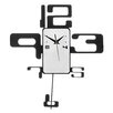 All Home Retro Numbers Pendulum Wall Clock