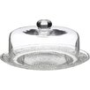 All Home 12cm Glass Dome Cake Plate