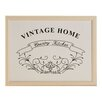 Premier Housewares 44 cm Vintage Home Lap Tray with Bean Bag Cushion