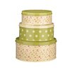 Premier Housewares Rose Cottage 3-Piece Cake Tin Set