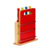 Premier Housewares 8-tlg. Messerblock-Set Red