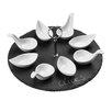 Premier Housewares 9-tlg. Vorspeisenset aus Porzellan in Weiß