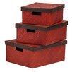 Premier Housewares 3-Piece Storage Box Set