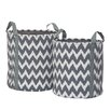 Premier Housewares 2 Piece Chevron Storage Bag Set