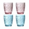 Premier Housewares Fleur 280ml Glass Tumbler (Set of 4)