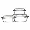 Premier Housewares 3-Piece Glass Oval Casserole-Set