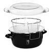 Premier Housewares Deep Fryer Enamel on Steel with Glass Pyrex Lid