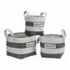 Premier Housewares 3 Piece Stuff Storage Basket Set