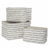 Premier Housewares Twigge 3 Piece Storage Boxes Set