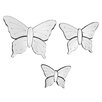 Premier Housewares 3 Piece Butterflies Mirror Set