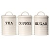 Premier Housewares Sketch Tea, Coffee and Sugar Canister