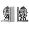 Premier Housewares Buddha Head Bookends (Set of 2)