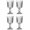 Premier Housewares Pyramid 250ml Wine Goblet (Set of 4)