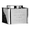 "Premier Housewares Chai ""Delicious Cake"" Stainless Steel Storage Tin"