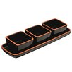 Premier Housewares Calisto 4 Piece Square Dishes on Tray Set