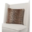 Little Giraffe Luxe Leopard Faux Fur Throw Pillow