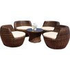 Ohana Depot 5 Piece Deep Seating Group with Cushion