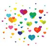 Wallies Murals & Cutouts Overlapping Hearts Wall Stickers