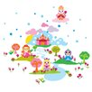 Wallies Murals & Cutouts French Bull Princess Wall Stickers