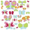 Wallies Murals & Cutouts 2 Piece Jenny's Butterflies Wall Sticker Set