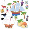 Wallies Murals & Cutouts 2-tlg. Wandsticker-Set Pirates