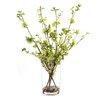 Dalmarko Designs Green Blossoms in Glass Vase