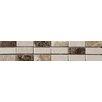 British Ceramic Tile Elgin 5cm x 30.5cm Natural stone Mosaic tile Tile in Cream/Brown